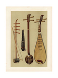 Chinese Instruments: Huch'In, Sheng, San-Hsien and Pipa Giclee Print by Alfred James Hipkins