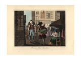 Parisian Street Characters Giclee Print by Victor Auver