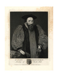Dr John Bridgeman, Bishop of Chester, 1623 Giclee Print by T. Trotter
