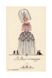 Woman in Fancy Dress Costume as La Fleur D'Oranger Giclee Print