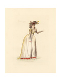 French Woman Wearing the Fashion of April 1792 Giclee Print by Auguste Etienne Guillaumot