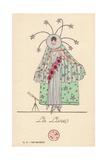 Woman in Lunar Fancy Dress Costume Giclee Print