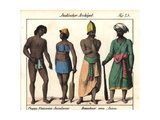 Islanders with Tattoos from Poggy and Naussau, Natives of Java Giclee Print