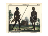 Australian Aborigine Warrior with Body Scarification Giclee Print