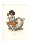 Winged Nautilus Shell with a Woman's Figure Giclee Print by Jakob Heinrich Hefner-Alteneck