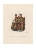 Holy Roman Emperor Otto I and Edith of England Giclee Print by Jakob Heinrich Hefner-Alteneck
