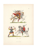 10th Century Battle Scene Giclee Print by Jakob Heinrich Hefner-Alteneck
