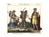Natives of Mexico Traveling and a Mexican Priest with Sacrificial Knife Giclee Print