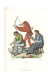 Medieval Archers with Crossbow and Long Bow, Early 16th Century Giclee Print by Jakob Heinrich Hefner-Alteneck