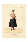 Young Woman of Estonia, Russian Swede National Costume, 19th Century Giclee Print by Thomas Hailes Lacy