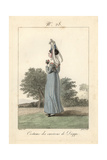 Costume of a Woman from Near Dieppe, 1827 Giclee Print