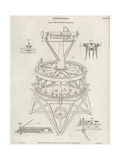 Surveying Level or Grand Theodolite Designed by Jesse Ramsden Giclee Print by J. Farey
