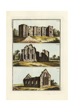 Ruins of Colchester Castle, Bainton Chapel and Coggeshall Abbey Giclee Print by Robert von Spalart