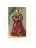 Queen Elisabeth of Poland, Born Archduchess of Austria, 1542 Giclee Print by Jakob Heinrich Hefner-Alteneck