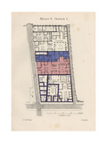 Plan of the House of Lucius Caecilius Iucundus Giclee Print by Emil Presuhn