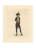 French Soldier in Uniform, April 1790 Giclee Print by Auguste Etienne Guillaumot