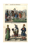 Circassian Dancers, Princess, Armorer and Nobleman Giclee Print