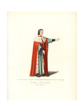 Nobleman of Milan, 14th Century Giclee Print by Paul Mercuri