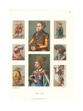 Men's and Women's Costume, 1510-1550 Giclee Print by Jakob Heinrich Hefner-Alteneck