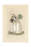 English Women in the Fashion of August 1796 Giclee Print by Auguste Etienne Guillaumot