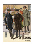 Men in Raglan and Ulsterette Coats from the 1920s Giclee Print