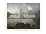 View of the Niagara Falls, 19th Century Giclee Print
