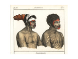 Aborigines with Bodypainting, Borogegal Man of Port Jackson Giclee Print