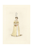 English Woman in the Fashion of March 1796 Giclee Print by Auguste Etienne Guillaumot