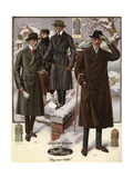Men in Ulster Coats from the 1920s Giclee Print