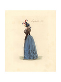 French Woman Wearing the Fashion of September 1791 Giclee Print by Auguste Etienne Guillaumot