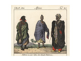 Costumes of the Tibbo People Near Gatrone, Sahara Giclee Print