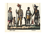 Costumes of Canadian Natives: Nipissing and Ottowa People Giclee Print