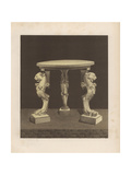 Marble Table in the Viridarium (Garden) of a House in Pompeii Giclee Print