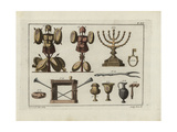 Hebrew Helmets, Chandelier, Table, Bread, Household Items Giclee Print by Robert von Spalart