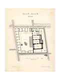 Map of the Thermae (Hot Baths), Pompeii Giclee Print