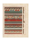 Wall Decorations from an Unidentified House in Pompeii Giclee Print by V. Loria