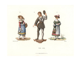 Swiss Costumes of the First Half of the 16th Century Giclee Print by Jakob Heinrich Hefner-Alteneck