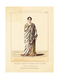 French Actress Mademoiselle Rachel in Andromaque, 1849 Giclee Print by Thomas Hailes Lacy