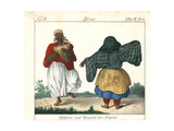 Costumes of Tripoli, Libya, Bagpiper and a Female Dancer Giclee Print