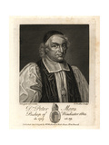 Dr Peter Mews, Bishop of Bath, 1672, Bishop of Winchester, 1684 Giclee Print by D. Loggan