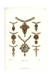 Jewelry from the Early 16th Century Giclee Print by Jakob Heinrich Hefner-Alteneck