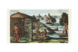 Funeral Rites of Natives Along the Orinoco River Giclee Print