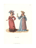 Swiss Women's Fashion from the 16th Century Giclee Print by Jakob Heinrich Hefner-Alteneck