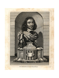 Elias Ashmole, Antiquarian, 1617-1692 Giclee Print by William Faithorne