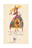 Woman in Handkerchief Fancy Dress Costume, Les Mouchoirs Giclee Print