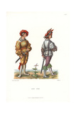 Costumes of Landsknechte or German Mercenaries Giclee Print by Jakob Heinrich Hefner-Alteneck
