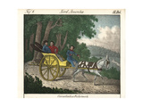 Canadian One-Horse Wagon with Passengers and Driver with Pipe Giclee Print