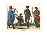 Costumes of Musicians and Warrior of the Xhosa, South Africa Giclee Print