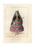 Costume of a Spanish Lady, 19th Century Giclee Print by Thomas Hailes Lacy