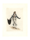 Costume of Lagorille, Wig Artist, One of the First Incroyables Giclee Print by Auguste Etienne Guillaumot